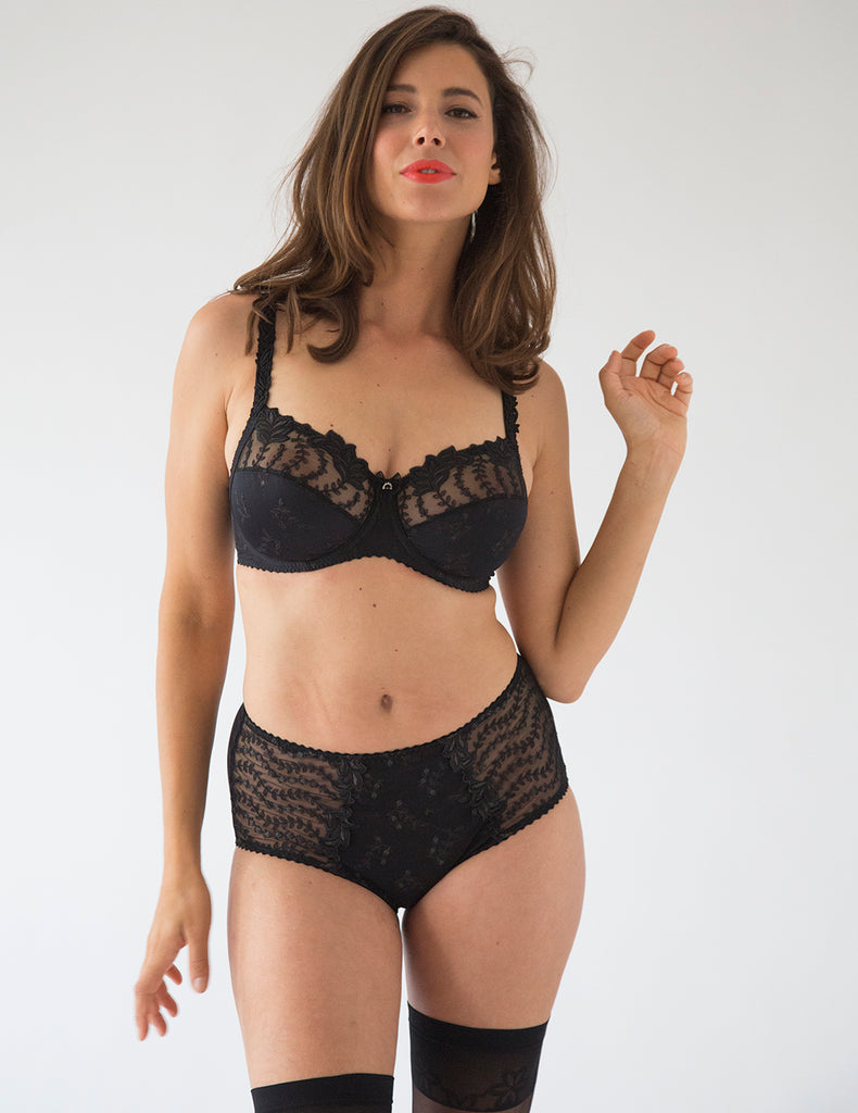 Lys Royal Noir High Waisted Support Brief