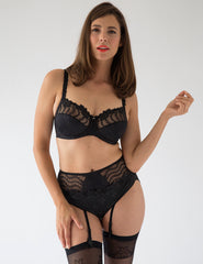 Lys Royal Noir Suspenders