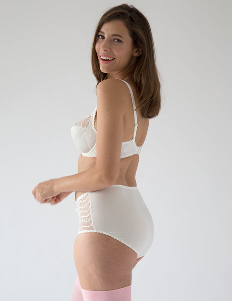 Lys Royal Creme High Waisted Support Brief