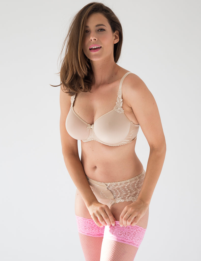 Lys Royal Blush Spacer Support Bra D-H Cup