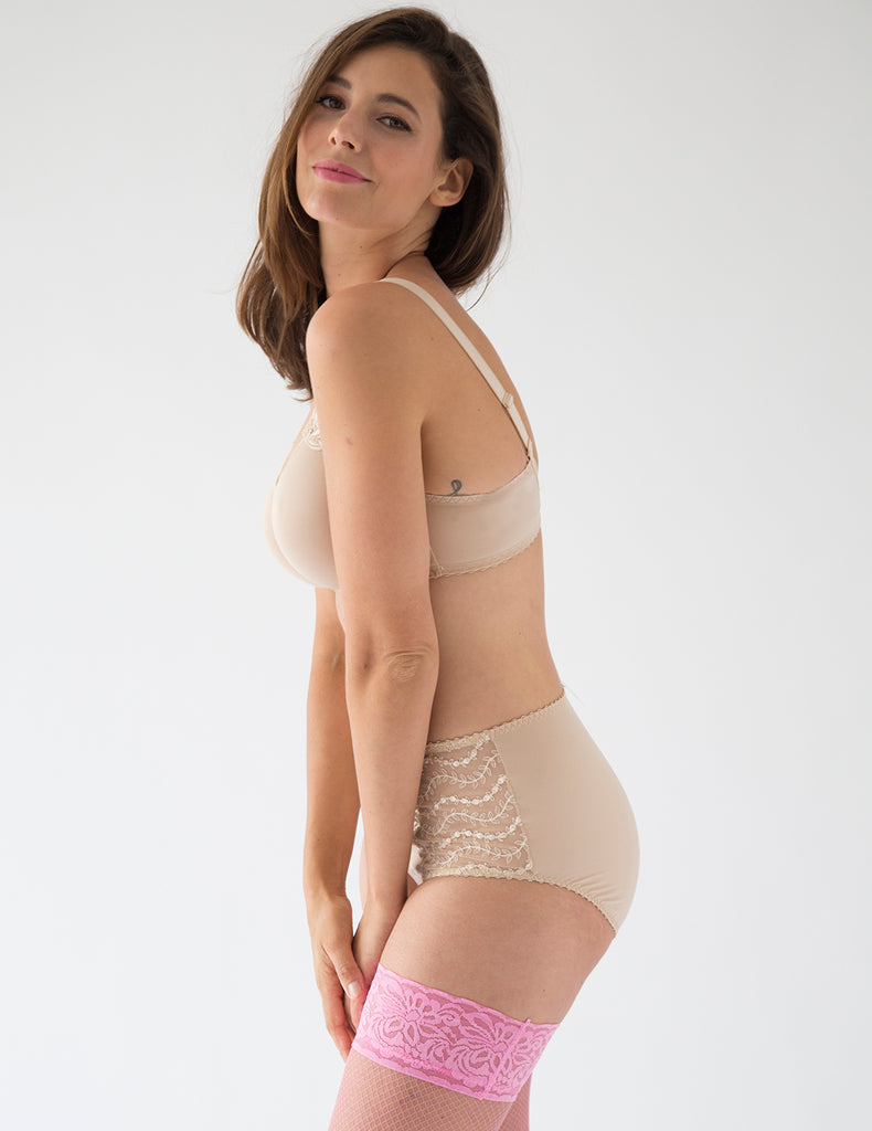 Lys Royal Blush High Waisted Support Brief