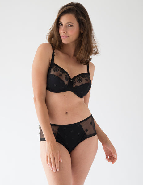 Chantilly Onyx Full Support D-H Cup Bra