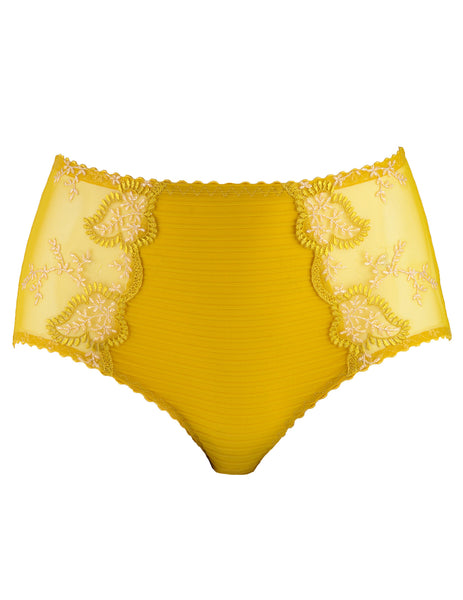Elise Ochre High Waisted Support knicker