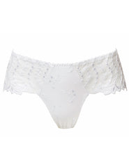 Lys Royal White Cheeky Boyshort
