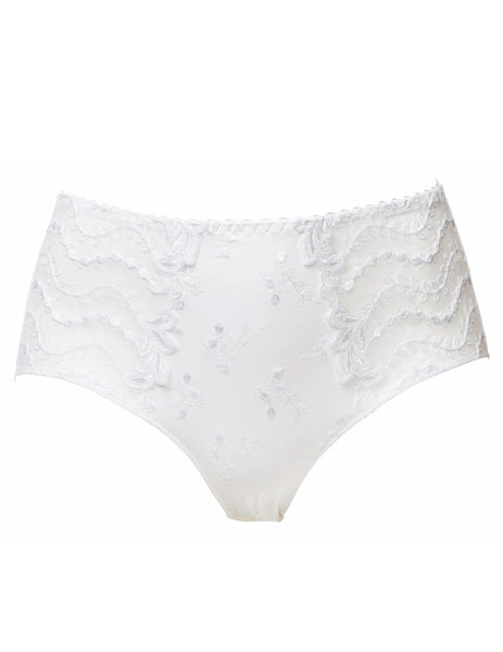 Lys Royal White High Waisted Full Brief