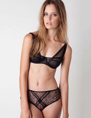 Panther Black Bra | Damaris Luxury Lingerie