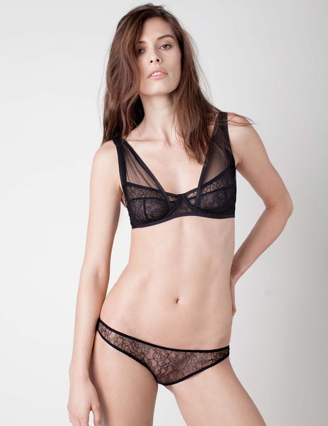 Panther Black Bra | Damaris Designer Lingerie