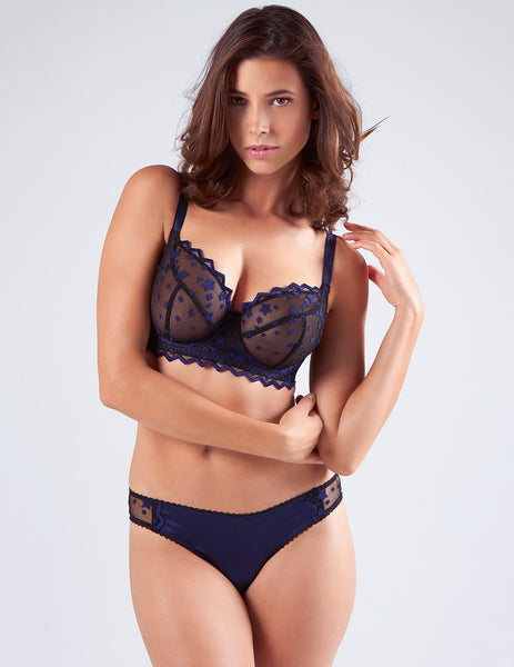 Deadly Nightshade Silk & Tulle E-GG cup Bra