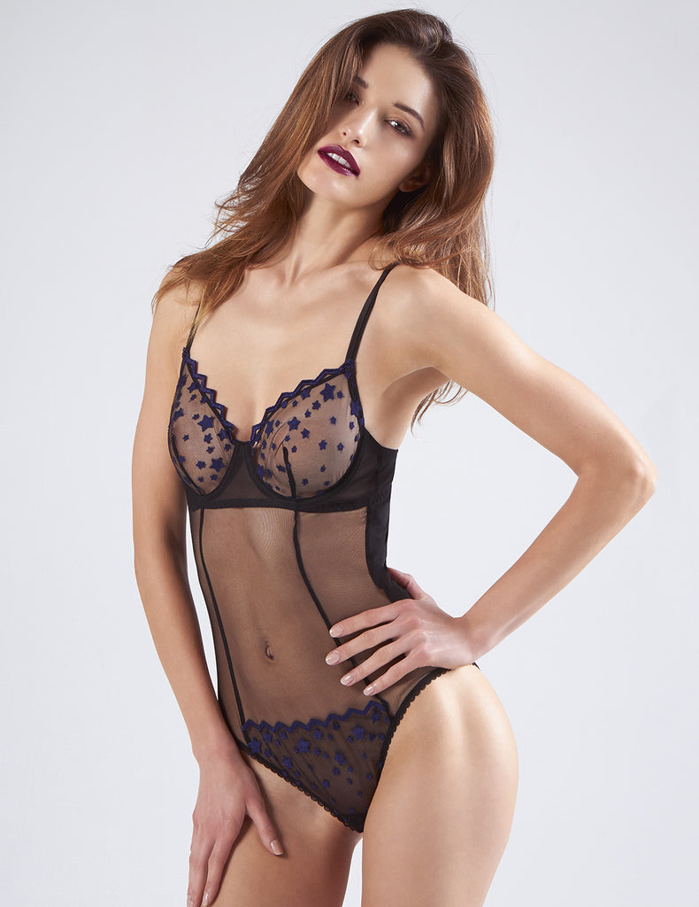 Deadly Night Shade Black Body | Mimi Holliday Luxe Lingerie
