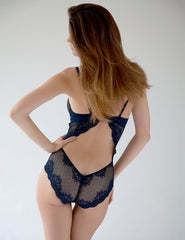 Navy Blue Lace Bodysuit | Mimi Holliday Sexy Lingerie