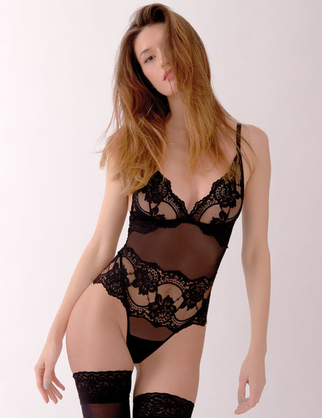 Black Lace Bodysuit | Mimi Holliday Designer Undertøy