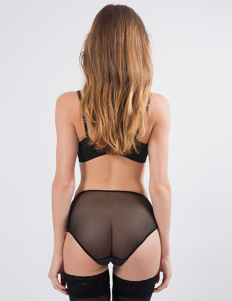 Black High-Waisted Knickers | Mimi Holliday Sexy Undertøy
