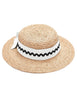Mimi Boater Hat - White & Black