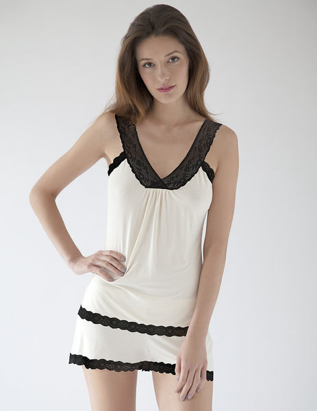 Zwart-wit Cami | Mimi Holliday Designer Nightwear