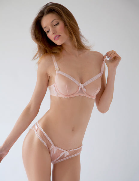 Baby Pink Lace Comfort Bra | Mimi Holliday Luxury Lingerie