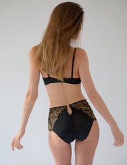 Black Gold Lace Comfort Bra. | Mimi Holliday luksoze femrash