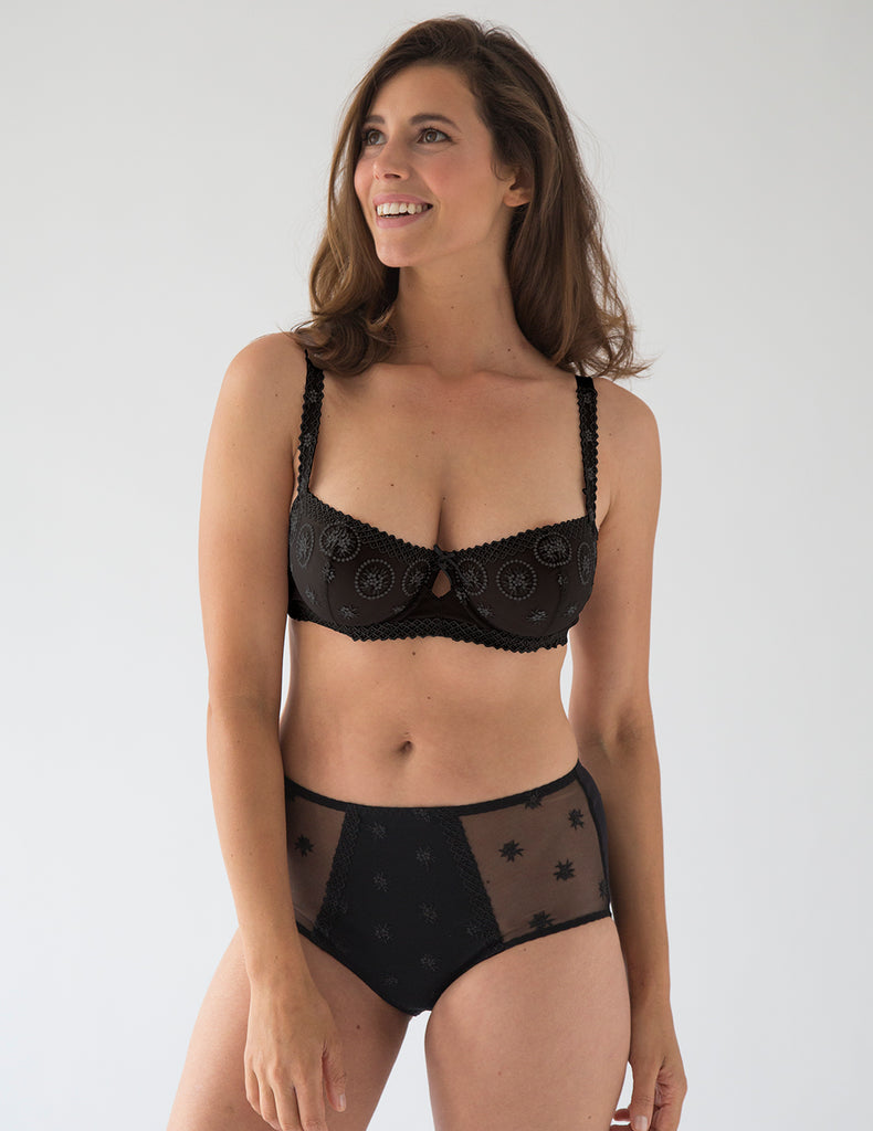Chantilly Onyx Balconnette Bra