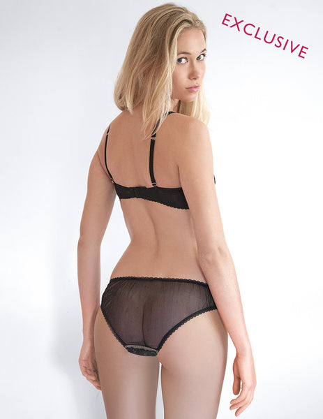 Black Star Lace Sexy Brief Knickers | Mimi Holliday Designer Lingerie