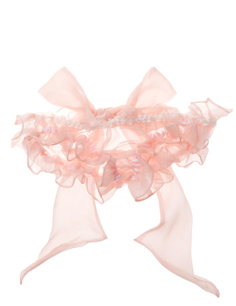 Damaris Peridot Bow Silk Chiffon Knickers