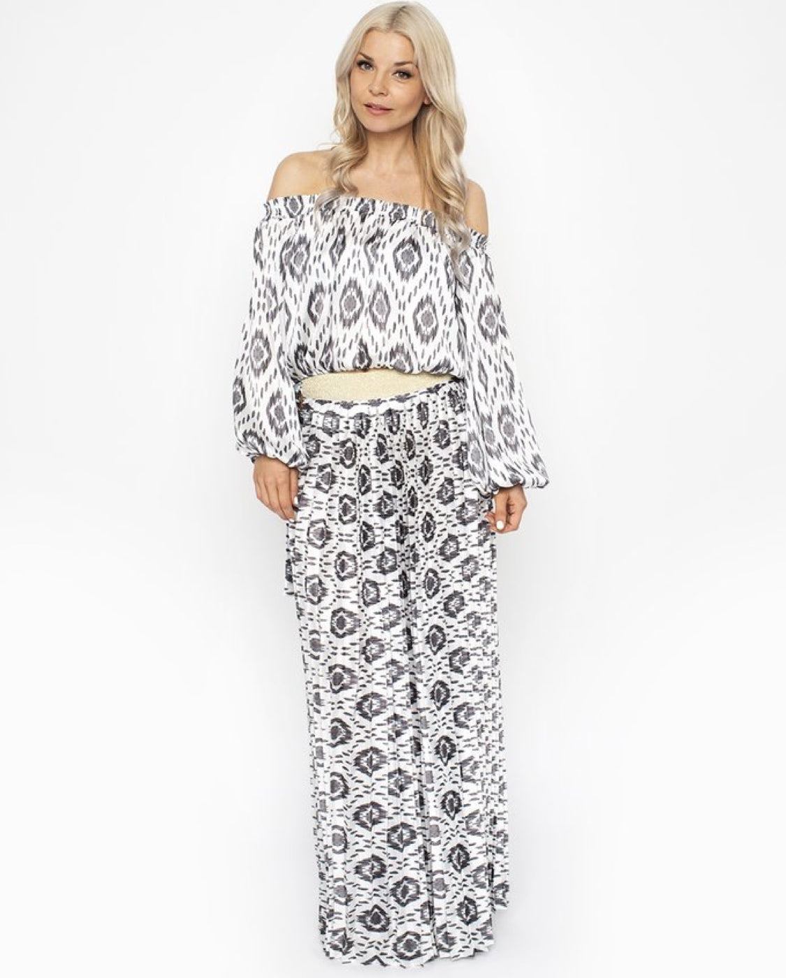 Dreamcatcher Pleated Maxi Skirt - Icat - by West Seventy Nine