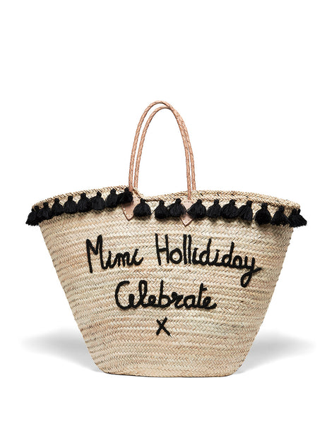 Large Straw Beach Bag | Mimi Holliday Luxe Accessoires