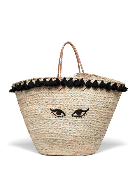Soleil Large Straw Beach Bag | Mimi Holliday Designer Accessories