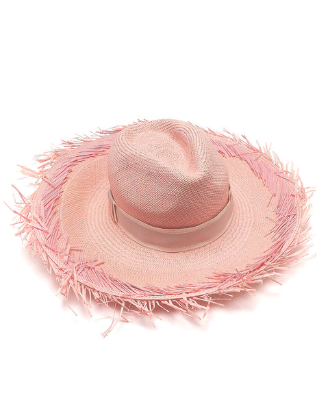 Bonjour Pink Panama Hat | Mimi Holliday Luxury Beach Tillbehör