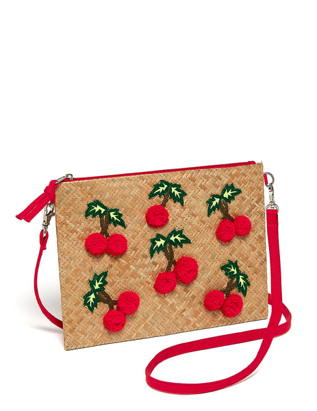 Cecile Cherry Cross Body Beach Bag | Mimi Holliday Lyxtillbehör