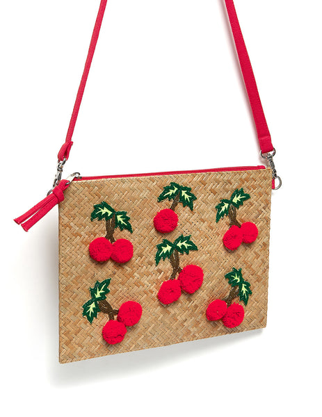 Cecile Cherry Cross Body Beach Bag | Mimi Holliday Designer Accessories