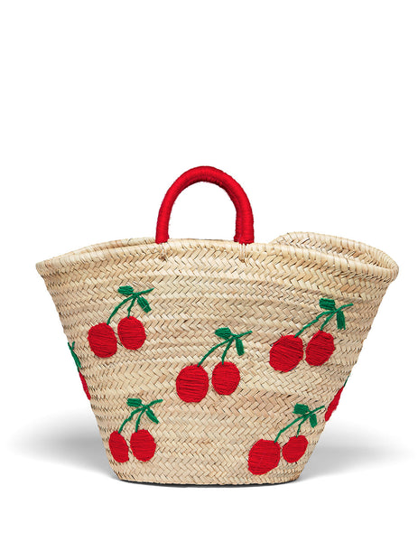 Cecile Cherry Beach Bag | Mimi Holliday Luxury Accessories