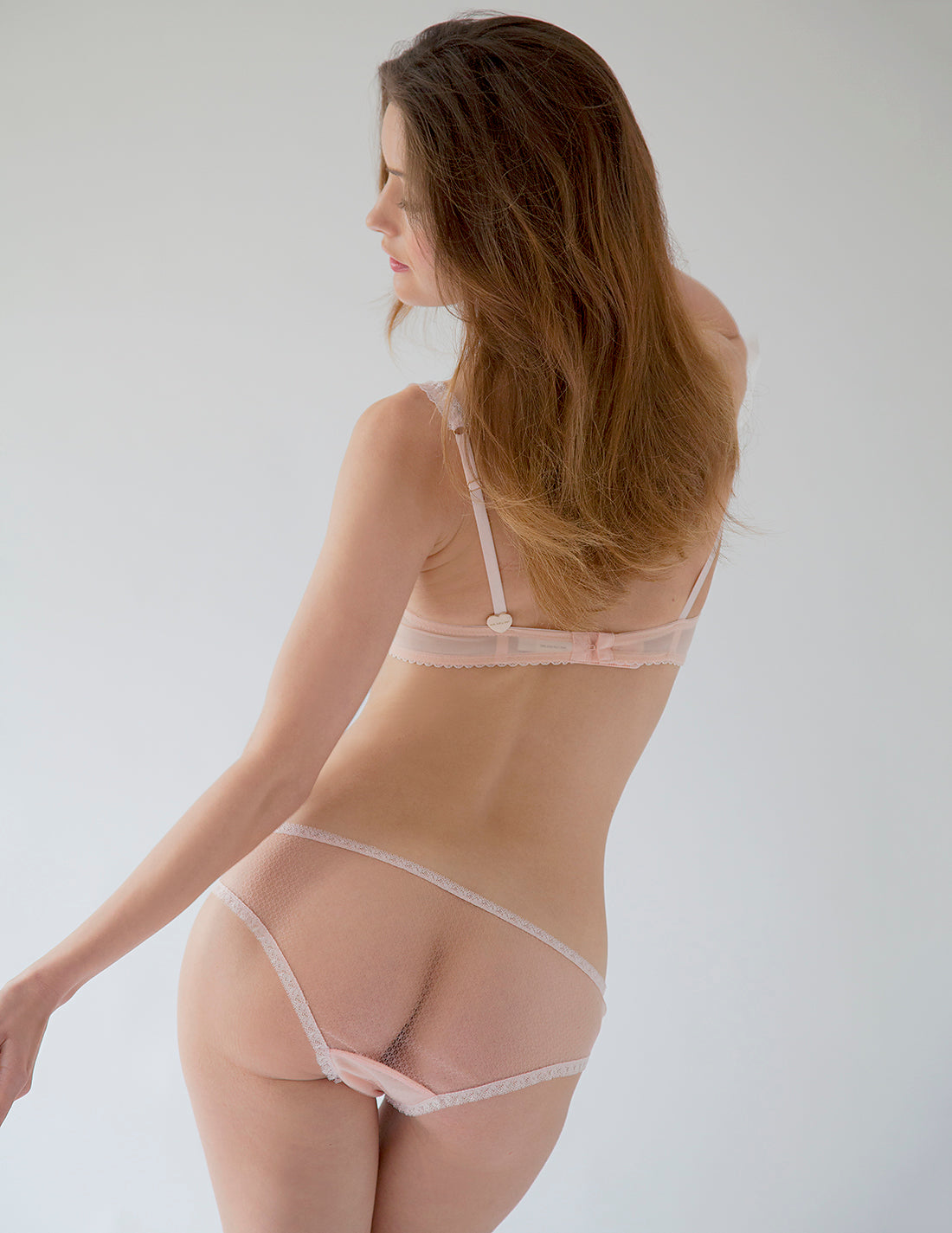 Baby Pink Lace Brief Knickers | Mimi Holliday Designer Lingerie