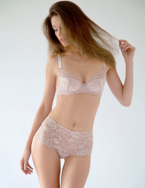 Nude Lace High Waist Knickers | Mimi Holliday Luxury Alusvaatteet