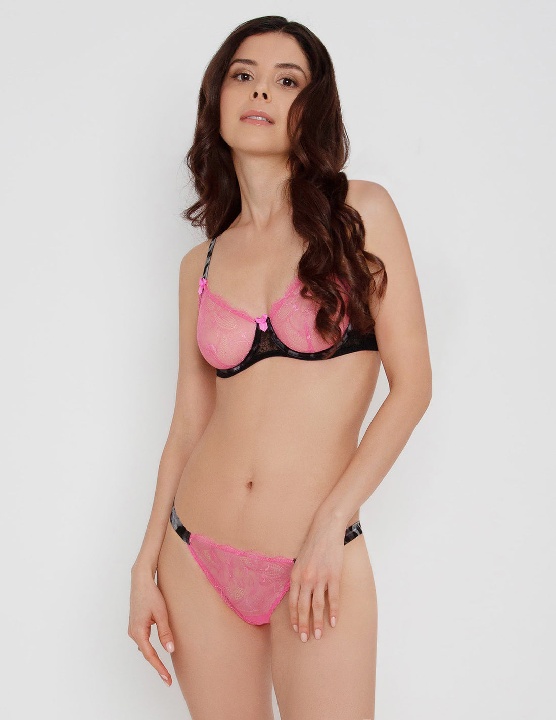 Pink Panthera Lace Brief