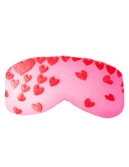 Pink Red Hearts Eye Mask | Mimi Holliday Luxury Nightwear