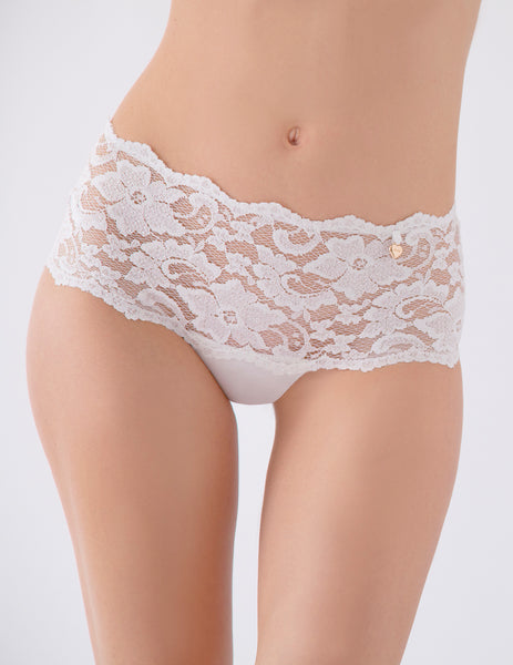 White High Waist Lace Knickers | Mimi Holliday Luksus Undertøj