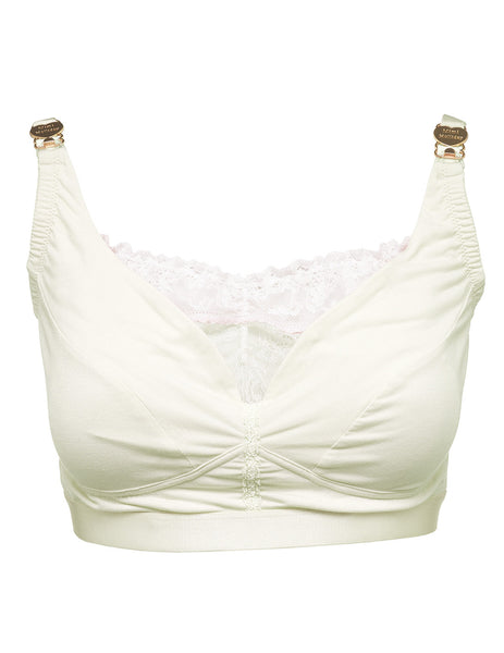 Creme Spitze Mutterschaft BH | Mimi Holliday Designer Dessous