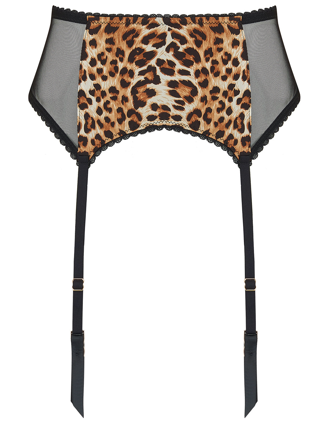 Tutu Tatou Natural Leopard Silk Suspenders