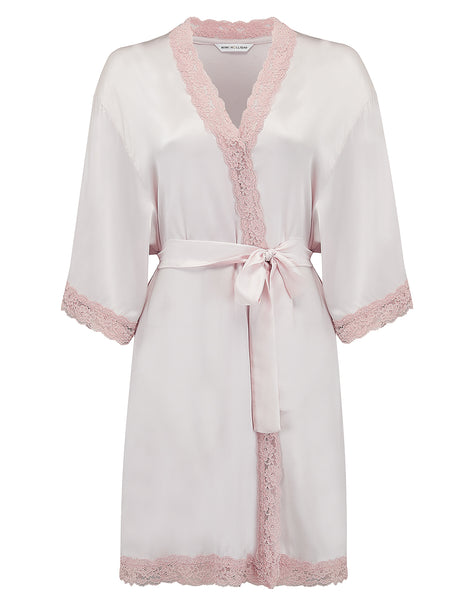 Nude Silk Dressing Gown | Mimi Holliday Designer Nightwear