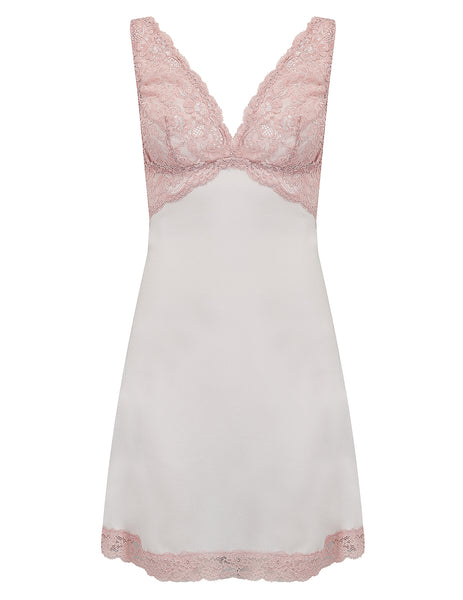 Nude Silk Nightie Slip | Mimi Holliday Designer Nightwear