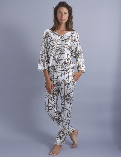 Cap Ferrat Silk Pajamas | Mimi Holliday Loungewear luksoze
