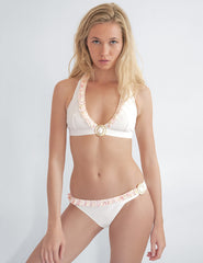 Soleil White Bikini Top | Mimi Holliday Designer Swimwear