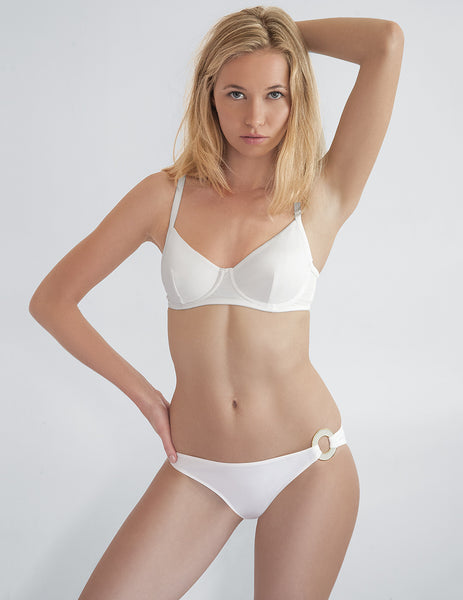 Frances White Bikini Top | Mimi Holliday Designer Bademode
