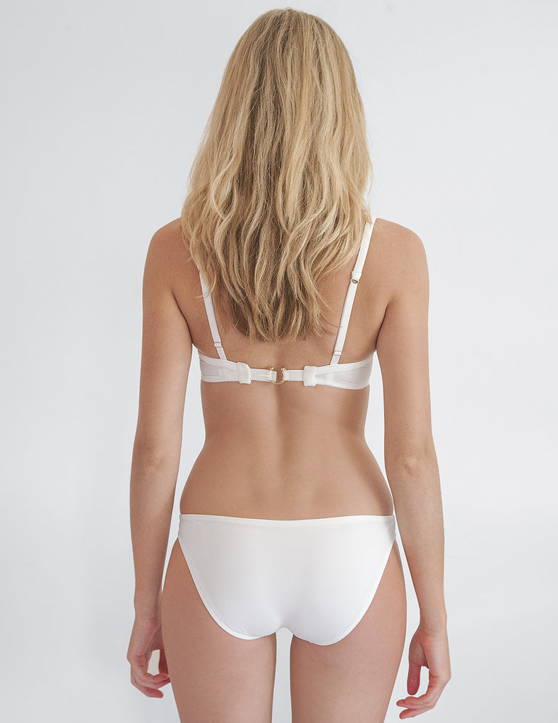 Parte inferior de bikini blanco Frances | Mimi Holliday Sexy Swimwear