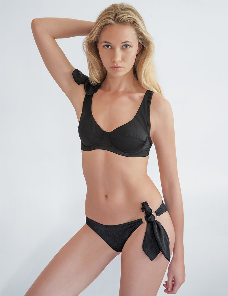 Black Bikini Bottom | Mimi Holiday Designer Swimwear