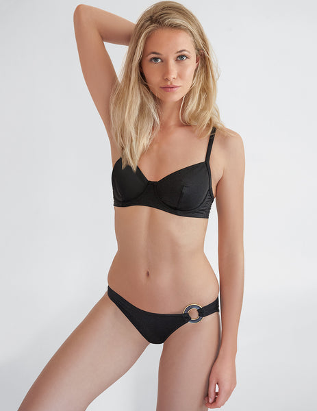 Frances Black Bikini Top | Mimi Holliday Designer Badkläder
