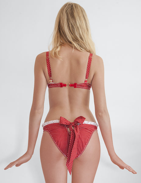 Riviera Red Polka Dot Bikini Bottom | Mimi Holliday Sexigt Badkläder