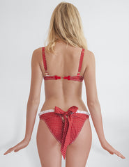 Riviera Red Polka Dot Bikini Bottom | Mimi Holliday Sexy Swimwear