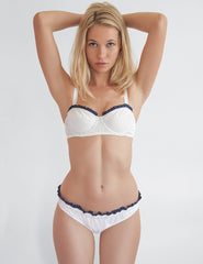 Witte Polka Dot Bikini Bottom | Mimi Holliday Designer Badmode