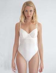 Brigette White One Piece Badedrakt | Mimi Holiday Luxury Badetøy