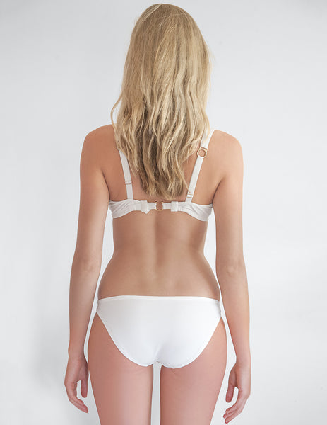 Parte inferior de bikini blanco Cecile | Mimi Holiday Sexy Swimwear